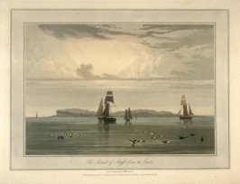 The Island of Staffa from the East, from Ayton's 'Voyage Round Great Britain' (London, 1814-1825) Vol.III