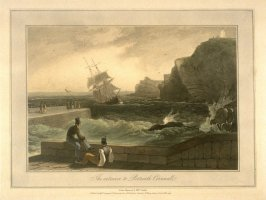 The entrance to Portreath Cornwall, from Ayton's 'Voyage Round Great Britain' (London, 1814-1825) Vol.I