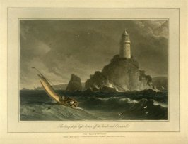 The long-ships light house off the lands end Cornwall, from Ayton's 'Voyage Round Great Britain' (London, 1814-1825) Vol.I
