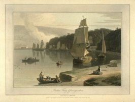 Britton Ferry, Glamorganshire, from Ayton's 'Voyage Round Great Britain' (London, 1814-1825) Vol.I