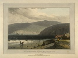 View of the entrance to Fishguard from Goodwych sands, from Ayton's 'Voyage Round Great Britain' (London, 1814-1825) Vol.I