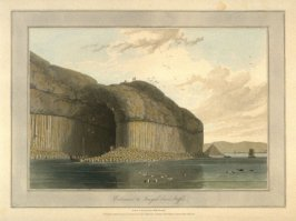Entrance to Fingals Cave, Staffa, from Ayton's 'Voyage Round Great Britain' (London, 1814-1825) Vol.III