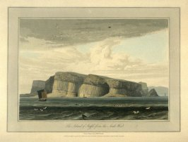 The Island of Staffa from the South West, from Ayton's 'Voyage Round Great Britain' (London, 1814-1825) Vol.III