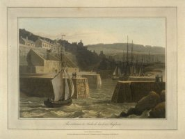 The entrance to Amlwch harbour Anglesea, from Ayton's 'Voyage Rounge Great Britain' (1814-1825) Vol.II