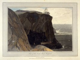 Part of the South Stack Holyhead, from Ayton's 'Voyage Round Great Britain' (London, 1814-1825) Vol.I