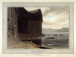 Staffa near Fingals Cave, from Ayton's 'Voyage Round Great Britain' (London, 1814-1825) Vol.III