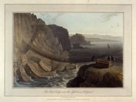 The Rope bridge, near the Light-house Holyhead, from Ayton's 'Voyage Round Great Britain' (London, 1814-1825) Vol.I