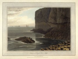 Exterior of Finga's Cave Staffa, from Ayton's 'Voyage Round Great Britain' (London, 1814-1825) Vol.III