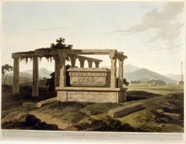Plate 14: An antique reservoir near Colar, in the Mysore, from the series 'Oriental Scenery'