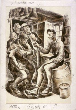 [Abraham Lincoln Chatting with Four Men in a Country Store]