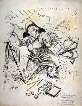 A Painter at her Easel, from The Unfaithful Trousers
