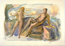 Two nude figures