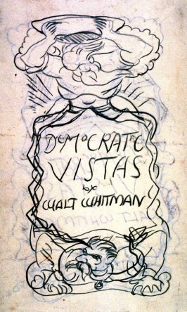Study. book illustration (Democratic Vistas by Walt Whitman)