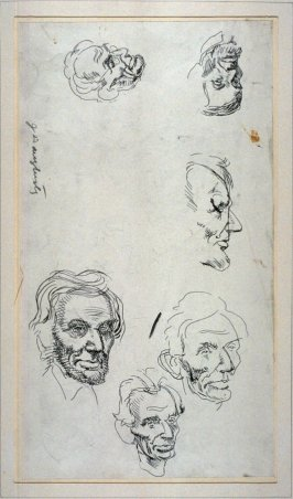 Recto/verso , Studies of Lincoln