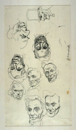 Recto/verso Studies of Lincoln