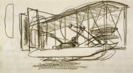 Study of the Wright's airplane at Kitty Hawk