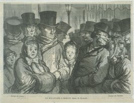 Le Boulevard à minuit after a drawing by Daumier