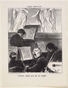 L'orchestre pendant qu'on joue une tragédie (The Orchestra during the Performance of a Tragedy), no. 17 of the series Croquis musicaux (Musical Sketches)