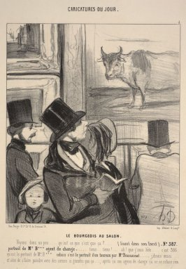 Le bourgeois au Salon no. 4 from the series Caricatures du jour
