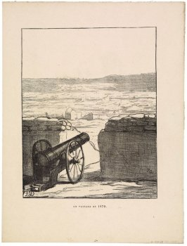 Un paysage en 1870 (A Landscape in 1870), no. 255 of the series Actualités (Current Events)