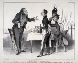 Robert Macaire au restaurant no. 19 of the series Caricaturana