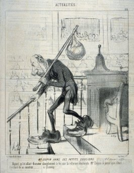 M. Dupin dans ses petits souliers ... no. 118 of the series Actualités published in Le Charivari 18 May 1850