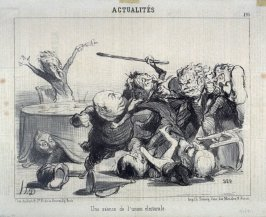 Une séance de l'union électorale no. 199 from the series Actualités published in Le Charivari 6 September 1851