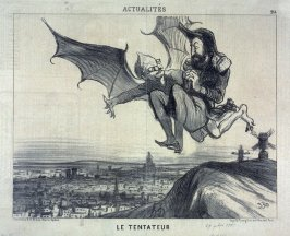 Le tentateur no. 214 from the series Actualités published in Le Charivari 29 September 1851