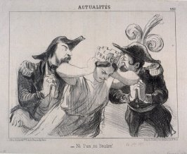 Ni l'un, ni l'autre no. 225 from the series Actualités published in Le Charivari 24 October 1851