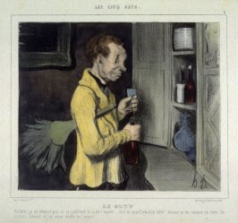 Le goût no. 3 of the series Les cinq sens published in La Caricature 18 August 1839
