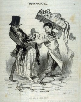 Une envie de femme grosse no. 15 from the series Mœurs conjugales published in Le Charivari 2-3 November 1839