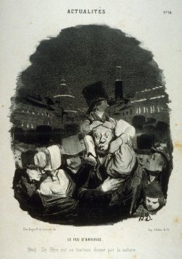 LE FEU D'ARTIFICE, no. 14 from the series ACTUALITÉS, published in La Caricature 9 August 1840