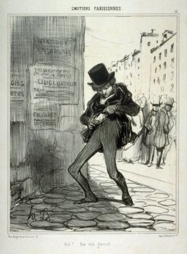 Vole!....Rue vide gousset..., no. 13 from the series ÉMOTIONS PARISIENNES, published in Le Charivari 22 November 1839