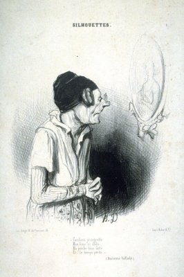 Combien je regrette.. no. 1 from the series Silhouettes published in La Caricature, 4 October 1840