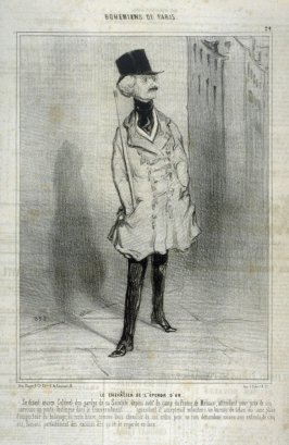 LE CHEVALIER DE L'ÉPERON D'OR, no. 24 from the series BOHÊMIENS DE PARIS, published in Le Charivari 27 February 1842