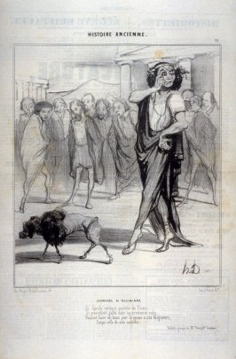 Jeunesse d'Alcibiade no 19 from the series Histoire ancienne published in Le Charivari 17 July 1842