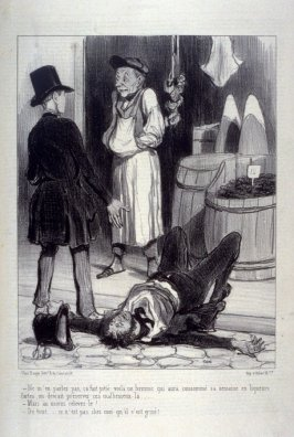 Ne m'en parlez pas, ça fait pitié. . ., no. 8 from the series VULGARITÉS , published in La Caricature 5 September 1841