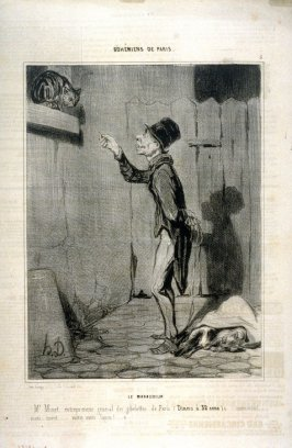 Le maraudeur no 5 from the series Bohémiens de Paris published in Le Charivari, 12 December 1841