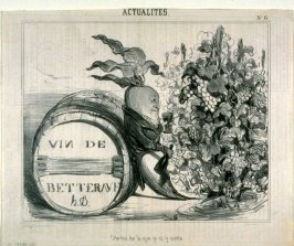 """Ôte-toi de là que je m'y mette.. no. 6 from the series ACTUALITÉS, published in Le Charivari 28 September 1839"