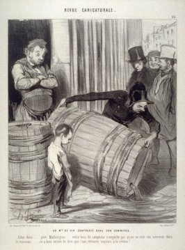 Un marchand de vin contrarié dans son commerce. no. 26 from the series Revue caricaturale