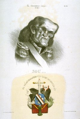 Soult (Maréchal) plate no. 172 published in La Caricature, 2 May 1833