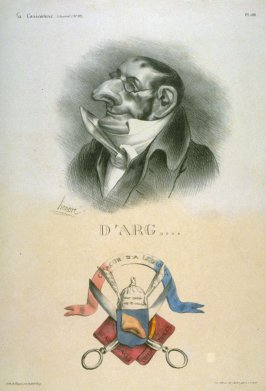 Comte d'Argout plate no. 188 published in La Caricature, 2 May 1833