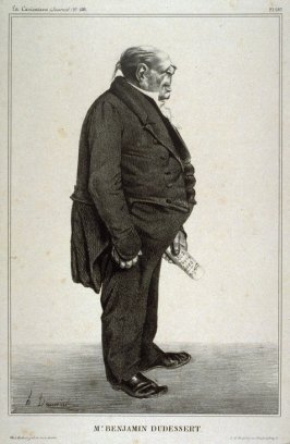 Mr. Benjamin Dudessert, pl. 287 from La Caricature (Journal) No. 138, published 27 June 1833