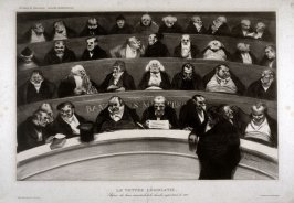 Le ventre législatif (The Legislative Belly) pl. 18 of L'Association mensuelle lithographique (Monthly Lithograph Association)