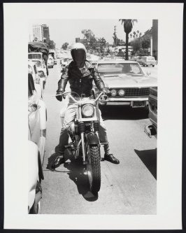 Untitled [Motorcycle and Rider] from Los Angeles