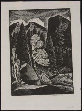Untitled (Trees and Rocks)