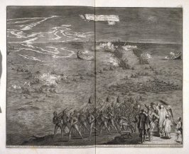 March of the Spaniards through the Water at Duyvenlandt and Schouwen - Pl.15 from: Netherlands 1566-1672