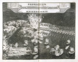 Parma's Bridge of Ships over the Schelde River - Pl.24 from: Netherlands 1566-1672