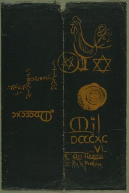 Cover (front and back), in the book Calendrier magique by Manuel Orazi (Paris: L'Art Nouveau, 1896)