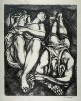 Destitute Family (Two Sleeping Figures with Baby)